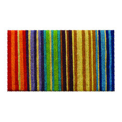 None - Hand-woven Extra-thick Rainbow Coir Doormat - This beautifully designed hand-woven doormat will enhance your entry way or patio. Made from the highest quality all natural coconut fiber,this welcome mat is perfect for your home.