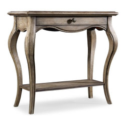 Hooker Furniture - Console Table - 5228 - White glove, in-home delivery included!  Created using hardwood solids and elm veneers, this impressive console includes one bottom shelf and a drawer.