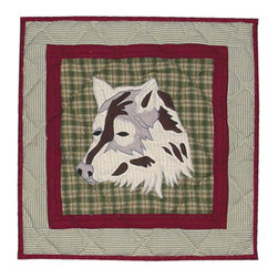 Patch Quilts - Call Of The Wild Toss Pillow 16 x 16 Inch - Decorative applique Quilted Pillow Bed and Home Ensembles and Bedding items from Patch Magic   - Machine washable  - Line or Flat dry only Patch Quilts - TPCALW