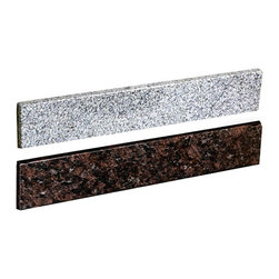 Granite Vanity Sidesplash - Designed for use with our Stone Vanity Tops, these granite sidesplashes complete a corner-installed vanity. May be installed on the right or left side.