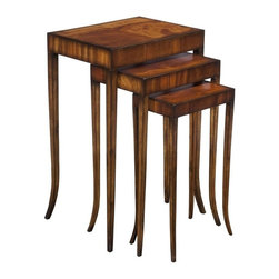 EuroLux Home - New Nesting Tables  Kent Finish Mahogany - Product Details