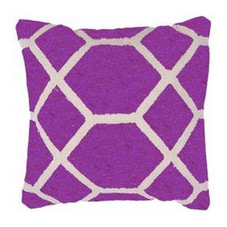 Tortoise Pillow in Grape (set of 2) - A bright burst of vivid color will give a neutral space a much needed jolt of energy.
