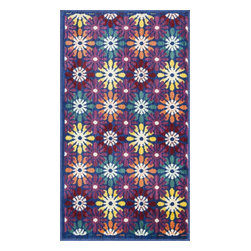 """Loloi Rugs - Loloi Rugs Isabelle Collection - Blue / Multi, 1'-7"""" x 2'-6"""" - Both striking and practical, the boldly colored Isabelle Collection offers a scatter rug power loomed of 100% polypropylene for incredible durability and stain resistance. Ideal for kitchens, entryways, or any room that could use plenty of color. Made in Egypt."""