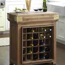 French Chef's Kitchen Island with Wine Storage | Williams-Sonoma