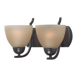 Cornerstone - 1402BB/10-LED Cornerstone Kingston Bathroom Lighting - 2 Light Bath Bar. Replacement Glass # G1031.