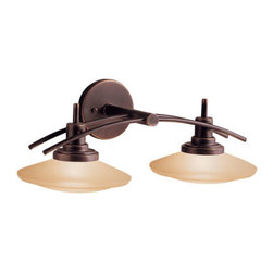 "Kichler - Kichler 6162OZ Structures 21"" Wide 2-Bulb Bathroom Lighting Fixture - Product Features:"
