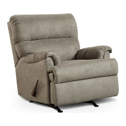 Chelsea Home Furniture - Chelsea Home Furniture Chaise Rocker Recliner Multicolor - 192155-SG - Shop for Recliners from Hayneedle.com! Perfect for most any lounging area the Chelsea Home Furniture Chaise Rocker Recliner offers a traditional design with plush comfort. This combination rocker/recliner features soft poly upholstery in Sensations gray and thick padded seat back and arms. Its smooth recline lets you kick up your feet with the flip of a handle. A sturdy frame and metal internal mechanism makes this chair a lasting part of your home.About Chelsea Home FurnitureProviding home elegance in upholstery products such as recliners stationary upholstery leather and accent furniture including chairs chaises and benches is the most important part of Chelsea Home Furniture's operations. Bringing high quality classic and traditional designs that remain fresh for generations to customers' homes is no burden but a love for hospitality and home beauty. The majority of Chelsea Home Furniture's products are made in the USA while all are sought after throughout the industry and will remain a staple in home furnishings.
