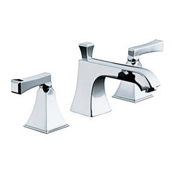 KOHLER - KOHLER K-454-4V-CP Memoirs Stately Widespread Bathroom Sink Faucet - KOHLER K-454-4V-CP Memoirs Stately Widespread Bathroom Sink Faucet with Deco Lever Handles in Polished Chrome
