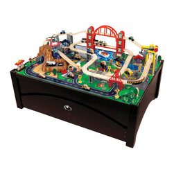"KidKraft - Kidkraft Kids Children Fun Play Toy Metropolis Train Table And Furniture Set - Our Metropolis Table and Train Set lets kids take control of an entire city. The train set is loaded with fun features and interactive pieces and the high-quality wooden table takes playtime off the floor. With this combination, kids are sure to have the time of their lives. Dimension: 46.5""Lx 32.75""Wx 26.63""H"
