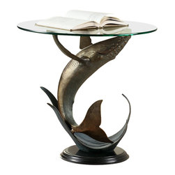 """SPI - Whale End Table - -Size: 23.5"""" H x 24"""" W x 24"""" D"""