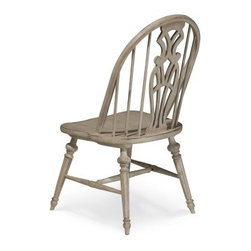 A.R.T. Furniture Belmar II Windsor Side Chair - Antique Linen - Set of 2 - The A.R.T. Furniture Belmar II Windsor Side Chair – Antique Linen – Set of 2 will fascinate your guests with its mix of country and coastal elements. Finished in a hand-painted and hand-distressed antique linen finish, these chairs are made from hardwood solids and New Zealand Pine veneers accented with a pierced and carved back splat and octagonal turned legs.About A.R.T. FurnitureFounded in 2003, A.R.T. Furniture creates beautiful, high-quality furniture inspired by architecture and design. Their sophisticated aesthetic draws upon the best of traditional European furniture designs, as well as rustic, coastal, and transitional styles. A.R.T. Furniture is known for its themed collections that reinvent classic forms for the needs of contemporary home decorators. Their dining room, bedroom, entertainment, and living room furnishings are constructed from sustainably forested hardwoods and veneers. A.R.T. Furniture is distinguished by its superior craftsmanship and attention to detail, taking the extra step in the manufacturing process to ensure quality, beauty, and durability for its customers.