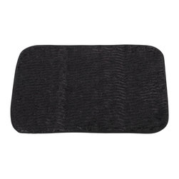"Faux Fur Bath Mat, Sable Black - ""Sable"" Black Faux Fur Bath Mat, Size 20""x31"". Step onto our sizzling ""Black Sable"" Faux Fur Bath Mat after every shower. This Large-Sized (20'' w x 31'' l) bath mat is soft, fast drying, and has a slip-resistant latex backing for added protection. Part of our Animal Instincts Collection, this mat coordinates well with our ""Sable"" Faux Fur Shower Curtain and our ""Leopard"" Resin Shower Curtain Hooks, each sold separately.     Machine wash in warm water, line dry, reshape as needed"