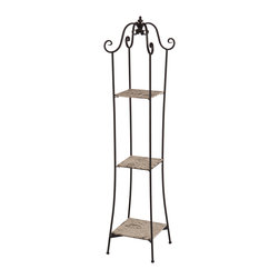 Holly & Martin - Notre Dame 3-Tier Tower - This 3-tier tower radiates gorgeous vintage style and adds charm to any room. It's not only an elegant highlight to a room but also serves as a display shelf for your most cherished possessions.