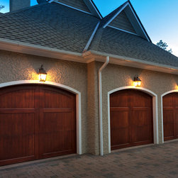 Carriage House Garage Doors These Wood Stained