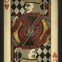 The Artwork Factory - 'Jack of Hearts' Print - Wear your heart on your sleeve — and on your walls. This museum quality print on high resolution, acid-free paper makes a striking style statement in your favorite setting.