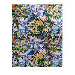 """Kess InHouse - DLKG Design """"Birds"""" Blue Yellow Metal Luxe Panel (24"""" x 36"""") - Our luxe KESS InHouse art panels are the perfect addition to your super fab living room, dining room, bedroom or bathroom. Heck, we have customers that have them in their sunrooms. These items are the art equivalent to flat screens. They offer a bright splash of color in a sleek and elegant way. They are available in square and rectangle sizes. Comes with a shadow mount for an even sleeker finish. By infusing the dyes of the artwork directly onto specially coated metal panels, the artwork is extremely durable and will showcase the exceptional detail. Use them together to make large art installations or showcase them individually. Our KESS InHouse Art Panels will jump off your walls. We can't wait to see what our interior design savvy clients will come up with next."""