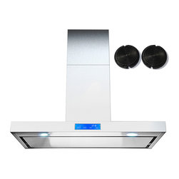 GOLDEN VANTAGE - GV 30-Inch Stainless Steel Wall Range Hood W/Carbon Filter For Ductless Option - Our Contemporary Europe design range hoods capture the most pollutants, grease, fumes, cooking odors in a quiet way but maintain a strong CFM From 300-900 depends on the style or model you choose. GV products not only provide top notch quality of material, we also offer led lighting, quiet chamber blower,adjustable telescopic chimney. All of our range hoods can convert to ventless/ductless options if outside exhaust not permitted.