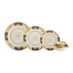 Mottahedeh - Mottahedeh | Golden Butterfly Dinnerware - By Mottahedeh