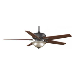"""Fanimation - Keistone 60"""" Ceiling Fan - Keistone ceiling fan available in bronze accent or pewter finish."""