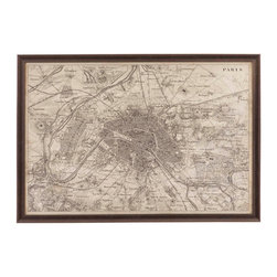 Bassett Mirror Company - Bassett Mirror Map of Paris - Map of Paris belongs to Other Collection by Bassett Mirror Company Map of Paris Wall Panel (1)
