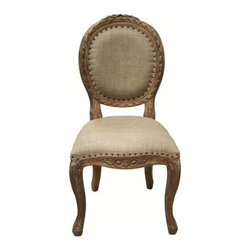 NOIR - NOIR Furniture - ISABELLE SIDE CHAIR - CHA122, Grey Wash - Features: