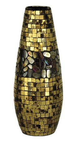 Dale Tiffany - New Dale Tiffany Vase Gold Glass DY-88 - Product Details
