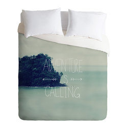 DENY Designs - Leah Flores Adventure Island Duvet Cover - Turn your basic, boring down comforter into the super stylish focal point of your bedroom. Our Luxe Duvet is made from a heavy-weight luxurious woven polyester with a 50% cotton/50% polyester cream bottom. It also includes a hidden zipper with interior corner ties to secure your comforter. it's comfy, fade-resistant, and custom printed for each and every customer.