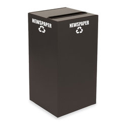 Witt Industries - Witt Industries Geo Cubes 28 Gallon Slate Recycling Bin Multicolor - 28GC01-SL - Shop for Recycling Bins from Hayneedle.com! It's simple to start a recycling program at work with the Witt Industries Geo Cubes 28 Gallon Slate Recycling Bin. Designed to be compact this bin will fit almost anywhere. Made from fire safe steel for durability the bin is available with lid options to accommodate whatever material you're looking to recycle. Decals are included with each lid to clearly mark its use. This recycling bin holds up to 28 gallons of recyclables and measures 15L x 15W x 28H.About Witt IndustriesWith its rich and established history in the steel waste receptacle manufacturing industry that dates back to 1887 Witt Industries has been in the forefront with its innovation quality and service. The company's founder George Witt invented and patented the first corrugated galvanized ash can and lid back in 1889 and the company has never looked back. Today Witt Industries is part of the Armor Metal Group and is a woman-owned business.