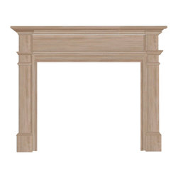 "Pearl Mantel - The Windsor Fireplace Surround, Unfinished, 48"" - Nothing kindles the warmth of your intergenerational friends and family ties like a gathering around a fireplace. And enhancing that experience is as simple as choosing a fireplace surround crafted with the utmost quality in mind: Solid hardwoods designed with timeless style and enduring beauty."