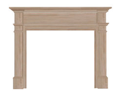 """Pearl Mantel - The Windsor Fireplace Surround, Unfinished, 48"""" - Nothing kindles the warmth of your intergenerational friends and family ties like a gathering around a fireplace. And enhancing that experience is as simple as choosing a fireplace surround crafted with the utmost quality in mind: Solid hardwoods designed with timeless style and enduring beauty."""