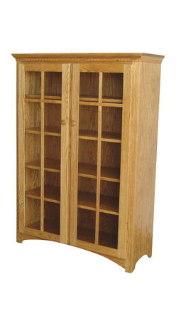 Chelsea Home Furniture - Chelsea Home Sussex 58 Inch Bookcase in Red Oak - If your books hold a special place in your heart, the bookcase that holds them should be special, too. This handcrafted mission style Quarter Sawn White Oak bookcase in Michael's Cherry is constructed with care to carry your beloved books from generation to generation. This bookcase has 2 glass cabinet doors and 4 inside adjustable shelves to put all your favorite titles proudly on display. Chelsea Home Furniture proudly offers handcrafted American made heirloom quality furniture, custom made for you. What makes heirloom quality furniture? It's knowing how to turn a house into a home. It's clean lines, ingenuity and impeccable construction derived from solid woods, not veneers or printed finishes over composites or wood products _ the best nature has to offer. It's creating memories. It's ensuring the furniture you buy today will still be the same 100 years from now! Every piece of furniture in our collection is built by expert furniture artisans with a standard of superiority that is unmatched by mass-produced composite materials imported from Asia or produced domestically. This rare standard is evident through our use of the finest materials available, such as locally grown hardwoods of many varieties, and pine, which make our products durable and long lasting. Many pieces are signed by the craftsman that produces them, as these artisans are proud of the work they do! These American made pieces are built with mastery, using mortise-and-tenon joints that have been used by woodworkers for thousands of years. In addition, our craftsmen use tongue-in-groove construction, and screws instead of nails during assembly and dovetailing _both painstaking techniques that are hard to come by in today's marketplace. And with a wide array of stains available, you can create an original piece of furniture that not only matches your living space, but your personality. So adorn your home with a piece of furn