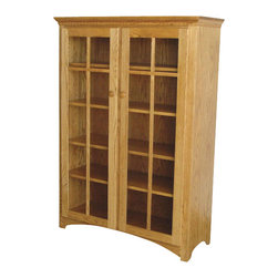 Chelsea Home Furniture - Chelsea Home Sussex 58 Inch Bookcase in Red Oak - If your books hold a special place in your heart, the bookcase that holds them should be special, too. This handcrafted mission style Quarter Sawn White Oak bookcase in Michael's Cherry is constructed with care to carry your beloved books from generation to generation. This bookcase has 2 glass cabinet doors and 4 inside adjustable shelves to put all your favorite titles proudly on display. Chelsea Home Furniture proudly offers handcrafted American made heirloom quality furniture, custom made for you. What makes heirloom quality furniture? It's knowing how to turn a house into a home. It's clean lines, ingenuity and impeccable construction derived from solid woods, not veneers or printed finishes over composites or wood products _ the best nature has to offer. It's creating memories. It's ensuring the furniture you buy today will still be the same 100 years from now! Every piece of furniture in our collection is built by expert furniture artisans with a standard of superiority that is unmatched by mass-produced composite materials imported from Asia or produced domestically. This rare standard is evident through our use of the finest materials available, such as locally grown hardwoods of many varieties, and pine, which make our products durable and long lasting. Many pieces are signed by the craftsman that produces them, as these artisans are proud of the work they do! These American made pieces are built with mastery, using mortise-and-tenon joints that have been used by woodworkers for thousands of years. In addition, our craftsmen use tongue-in-groove construction, and screws instead of nails during assembly and dovetailing _both painstaking techniques that are hard to come by in today's marketplace. And with a wide array of stains available, you can create an original piece of furniture that not only matches your living space, but your personality. So adorn your home with a piece of furniture that will be future history, an investment that will last a lifetime.