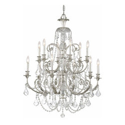 Crystorama Lighting Group - Regis Olde Silver Twelve-Light Chandelier with Swarovski Strass Crystal - Regis Olde Silver Twelve-Light Chandelier with Swarovski Strass Crystal Crystorama Lighting Group - 5119-OS-CL-S