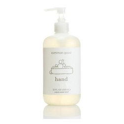 Eco Friendly Hand Soap by Common Good - This eco friendly hand soap is from Brooklyn-grown line of biodegradable, dye- free and plant based home supply company Common Good. Completely devoid of unnecessary phosphates, dyes, and fragrances, Common Good hand soap is powerful enough to rival any of the chemical-packed offerings on supermarkets and pharmacies' shelves.