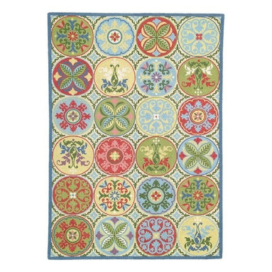 Company C Wool Rug Stepping Stones - This 100% wool rug will add a beautiful and delicate energy to a nursery. With bright spring-inspired colors, the repeating geometric pattern is completely delightful, don't you think?
