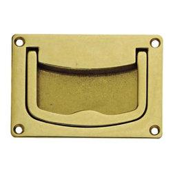 Richelieu Hardware - Richelieu Hardware Classic Brass Recessed Pull 57mmx38mm Brass Finish - Richelieu Hardware Classic Brass Recessed Pull 57mmx38mm Brass Finish