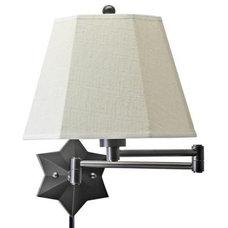 Bronze Star of the Show Plug-In Swing Arm Wall Lamp | LampsPlus.com