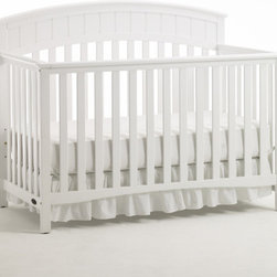 "Graco - Charleston Classic 4-in-1 Convertible Crib Set - Durable, versatile and beautiful, the Charleston 4-in-1 Convertible Crib is certified to be safe. Simple yet elegant in style, the crib moves easily on rollers and the mattress adjusts to three different heights. This crib transitions easily to a toddler bed (no guard rail needed for conversion), daybed and full-size headboard (bed frame not included). Features: -Charleston collection. -Material: Wood. -Non - Dropside. -JPMA, ASTM and CPSC safety certified. -Three-position mattress height adjustment. -Four sturdy rollers (two locking) for ease of mobility. -Easy to clean surfaces. -This is a NON-Drop Side crib. Dimensions: -45.7 - 55"" H x 40 - 47"" W x 56.5 - 61"" D, 63 lbs."