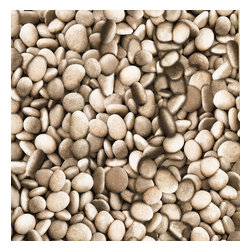 Brewster - Textures, Techniques & Finishes Pebbles Wallpaper - Bring a fascinating natural feel to your decor. This unique pebble print makes a cool, creative statement on an accent wall in your favorite eclectic setting.