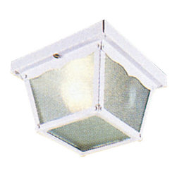 Livex Lighting - Livex Lighting 7501 1 Light 60W Flushmount Ceiling Light - 1 Light 60W Flushmount Ceiling Light with Medium Bulb Base and Clear Beveled Glass from Outdoor Basics SeriesProduct Features: