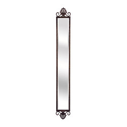 """Lamps Plus - Accent La Valle 7 1/2"""" x 60"""" Tall Accent Mirror - Tall wall mirror. Iron construction. 7 1/2"""" wide. 60"""" high.            Tall wall mirror.  Iron construction.  7 1/2"""" wide.  60"""" high."""