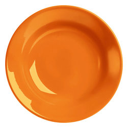 Waechtersbach - Set of 4 Soup Plates Fun Factory Orange - Bring simple style to your table with Fun Factory Orange Soup Plates, ideal for serving soup or pasta. Combining classic shape and solid color, these durable ceramic pieces were created for everyday meals and special occasions.