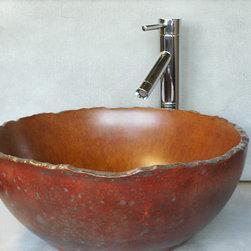 Concrete vessel sink - Concrete vessel sinks by BDWG Concrete Studio Inc.