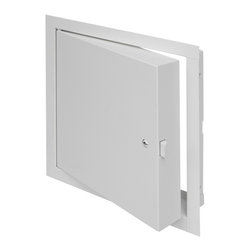 """Best Access Doors - Fire Rated Insulated Access Door with Flange, 12""""x12"""" - 12"""" x 12"""" Fire Rated Insulated Recessed Door with Flange   The BA-FW-5050 is an insulated, fire rated access door approved for use in walls and ceilings. For walls, this door has an Underwriters Laboratories (UL and ULC), 1-1/2 hour """"B"""" label, with a maximum temperature rise of 250 degrees after 30 minutes. This door should be used in walls when temperature rise or heat transmission is a factor. For fire rated ceilings, this door has been approved by Warnock Hersey International for 3 hours (max. size to 24"""" x 36"""")   In-Stock and Ready to Ship !      -    Application: - For all types of walls and ceilings- This door should be used in walls when temperature rise or heat transmission is a factor. Product Features - Insulated door panel - Concealed hinge - Self-closing - Self-Latching- Inside latch release   BA-FB-5050 Access Door Specifications: - Door / Door Frame: Steel  20 gage door,16 gage mounting frame Door filled with 2"""" thick fire rated insulation, flange to be 1"""" wideHinge: Concealed- Fire Rating (Walls): UL � 1-1/2 hour """"B"""" label. ULC � 2 hour """"B"""" label Max size: 36 x 48. (Ceilings): Warnock Hersey International 3 hour rated in a non-combustible ceiling. 1 hour rated in a combustible ceiling. Max size: 24 x 36 - Standard Latch: Universal self-latching bolt, operated by either a knurled knob or flush key. When master keying is required, doors can be prepared for mortise cylinder locks.- Finish: Steel: 5 stage iron phosphate preparation with prime coat of white baked-on enamel"""
