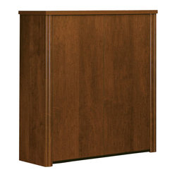 "Bestar - Bestar Embassy 36"" 2-Door Cabinet in Tuscany Brown - Bestar - Filing Cabinets - 605161163 - Warm and elegant the Embassy Collection stands out with its versatility. From executive groups to computer work centers Embassy is the answer. Stylish moldings thermofused melamine finish and designer handles are some of the great features offered in this stunning collection by Bestar. This traditional modular collection offers numerous configuration for various use."