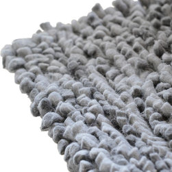 Blu Dot - Blu Dot Cush 9' x 9' Rug, Slate - Plush New Zealand wool twisted to create thick, pillowy shag with a cotton canvas backing.  Available in three sizes (6' x 9', 9' x 9', and 9' x 12') and two colors (light blue and slate).100% New Zealand Wool with 100% cotton canvas backing