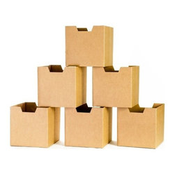 Sprout - Cardboard Cubby Bins 6 Pack - Sprout cardboard cubby bins offer simple, modern, and practical design. Made from recycled cardboard, these bins will help to organize your childs life. Designed for use in the Sprout Cubby, you can store books, toys and more in these fun storage bins. More economical than plastic and canvas bins, Sprout cubby bins feature fun graphic designs, and add a unique touch to any playroom, bedroom or nursery.
