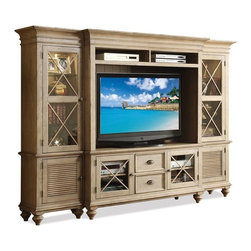 Riverside Furniture - Coventry 4-Piece Wall System (Weathered Driftwood) - Finish: Weathered Driftwood
