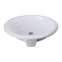 Hardware Resources - Hardware Resources Porcelain Sink, White, 15 in  X 12 in - Undermount Porcelain Sink