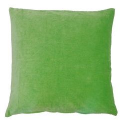 JITI - Green Velvet PIllow - Who can resist a classic? With this velvet throw pillow, available in oodles of sizes and colors, you won't have to! Ideal for mixing and layering, go ahead and experiment. Change your look as often as you can move this one here, and that one there. Anywhere it lands, it's a perfect fit.